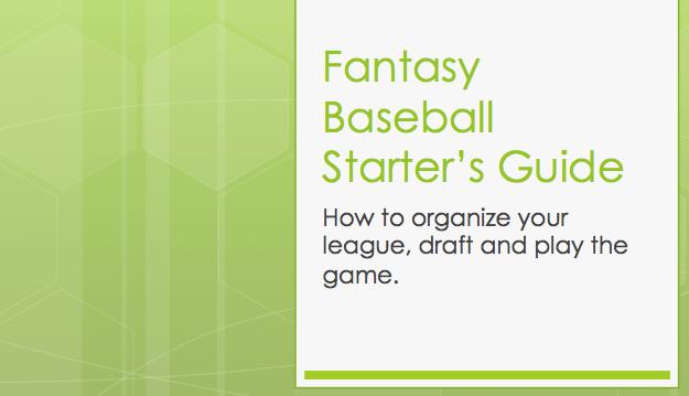 fantasy baseball starter's guide image