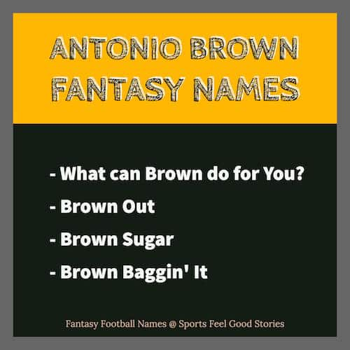 Antonio Brown Fantasy Football Names image