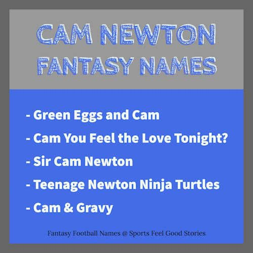 Cam Newton Fantasy Football Names image