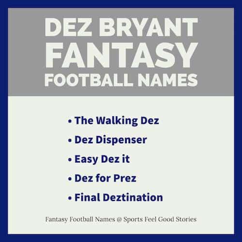 Dez Bryant Fantasy Football Names image