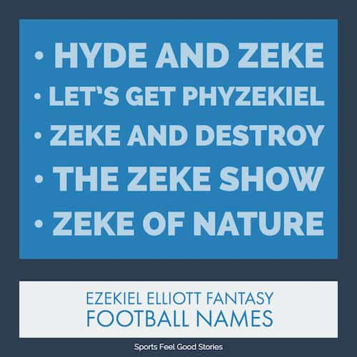 Ezekiel Elliott Fantasy Football Names image