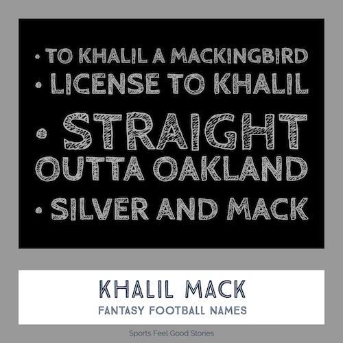 Khalil Mack Fantasy Football Names image