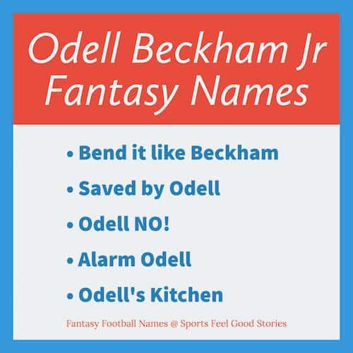 Odell Beckham Jr Fantasy Football Names image