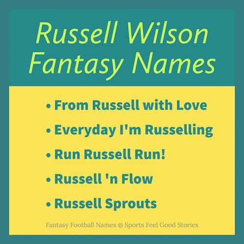 Russell Wilson Fantasy Names image