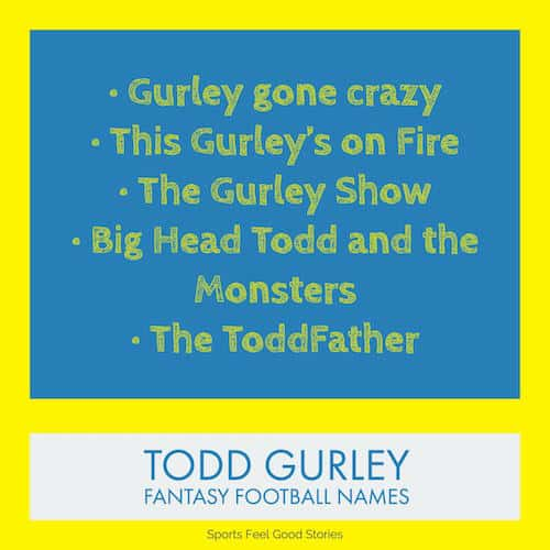 Todd Gurley Fantasy Football team names image
