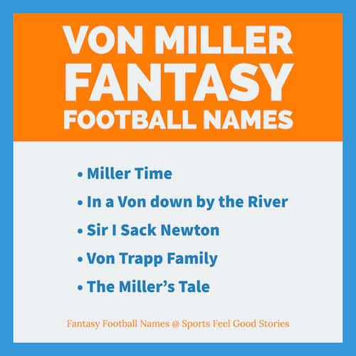 Von Miller Fantasy Football Names