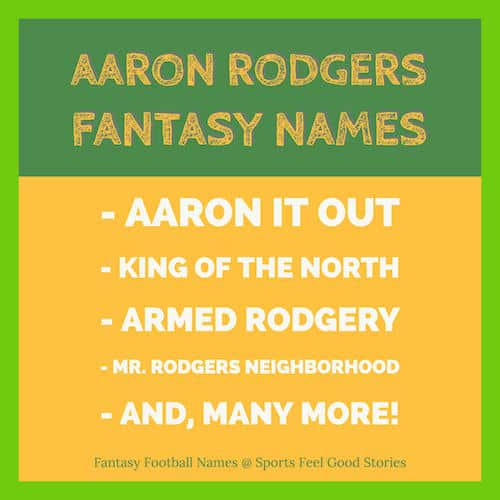 Aaron Rodgers fantasy names image