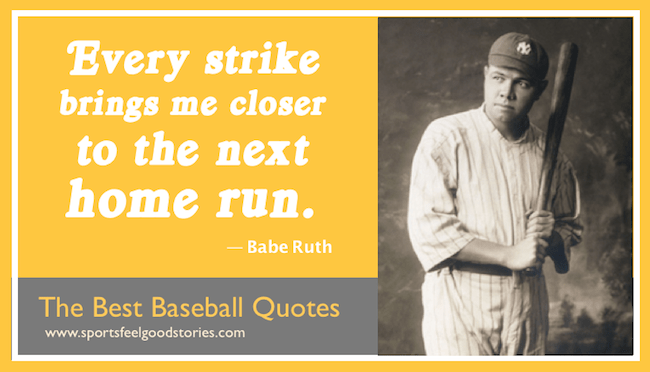 Famous Babe Ruth - Inspirational Sports Quotes image