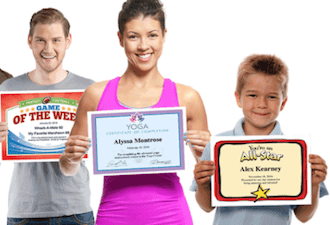 sports feel good stories certificates image