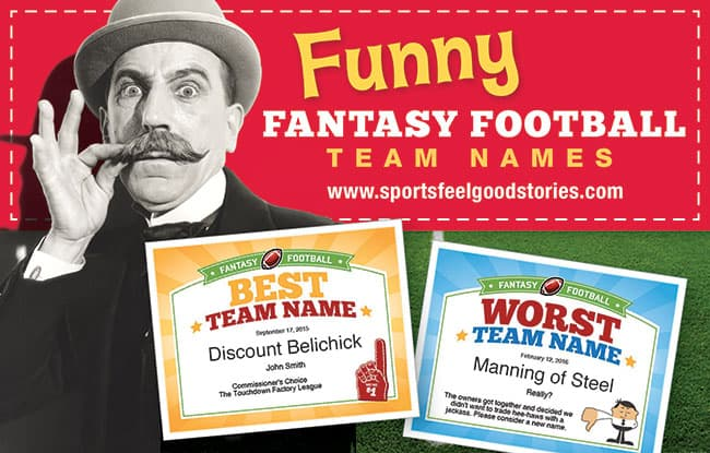 Fantasy Football Team Names 2018 | Funny, Good & The Best