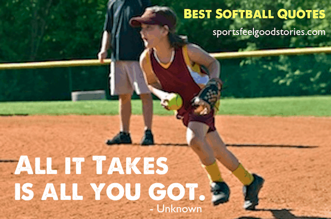 Best Softball Quotes image