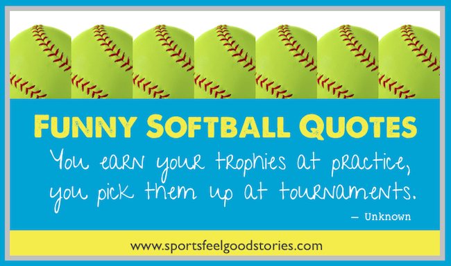 Humorous Softball quotes image
