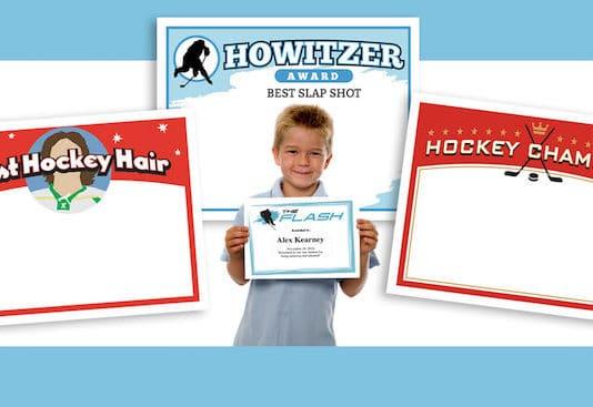 hockey certificates templates