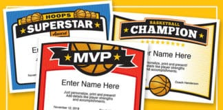 Elite Basketball Certificate Templates image