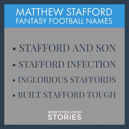 Matthew Stafford Fantasy Football Team Names image