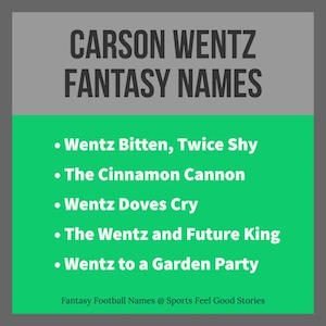 Carson Wentz Fantasy Names team image