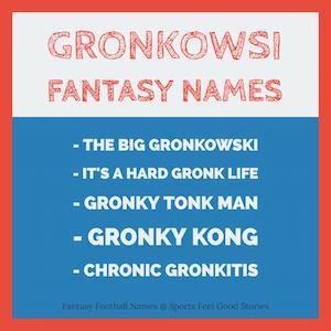 Gronkowski nicknames image