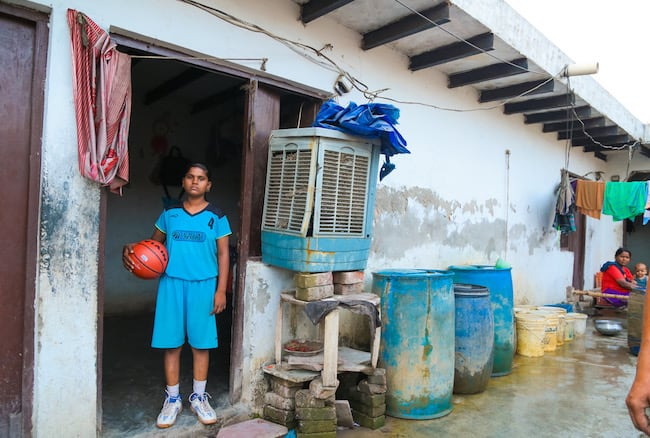 Basketball in India's slums