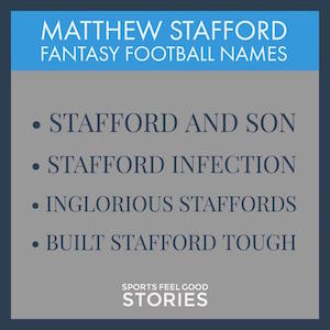 Stafford tags for fantasy football image