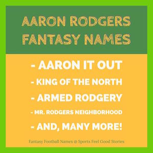 aaron rodgers fantasy selections image
