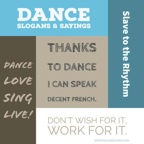 Dance sayings list image