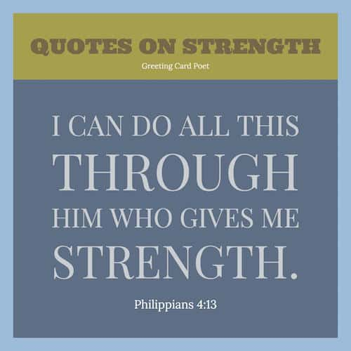 Strength quotes from Bible image