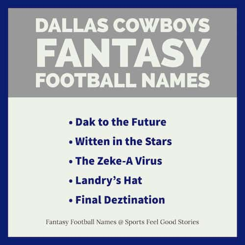Cowboys Fantasy Football Team Names image