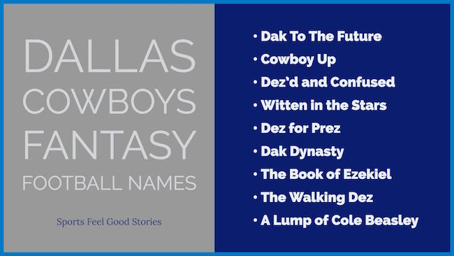 Dallas Cowboys Fantasy Football Names image