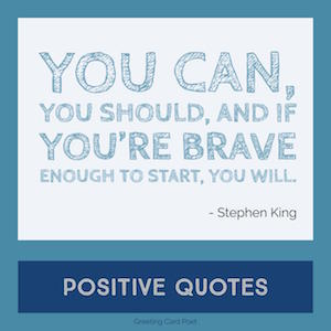 Stephen King Quote on positivity image