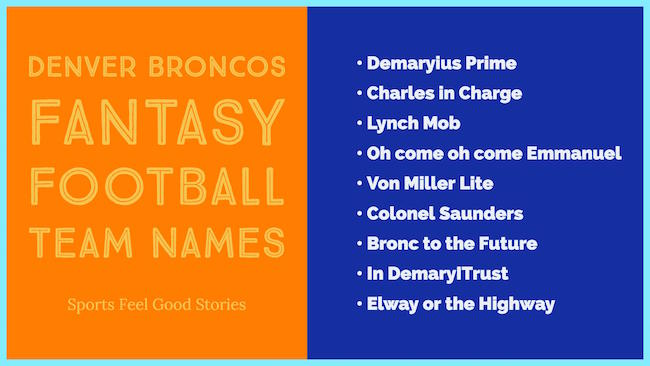 broncos fantasy football team names image