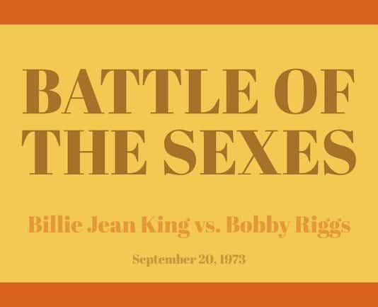 battle of the sexes image