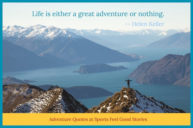 Helen Keller Adventure Quote Image