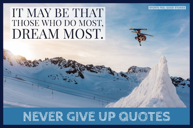 Never Give Up Quotes image