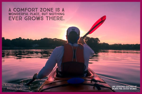 comfort zone quotation image