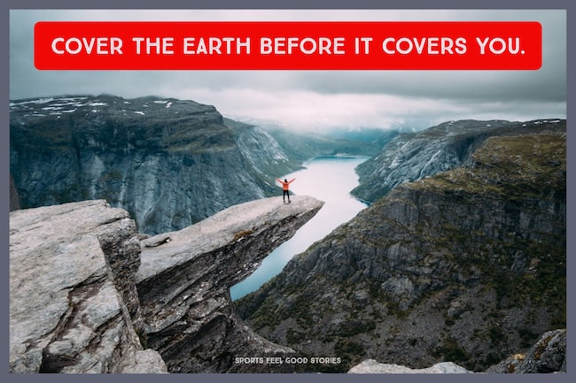 cover the earth before it covers you quote