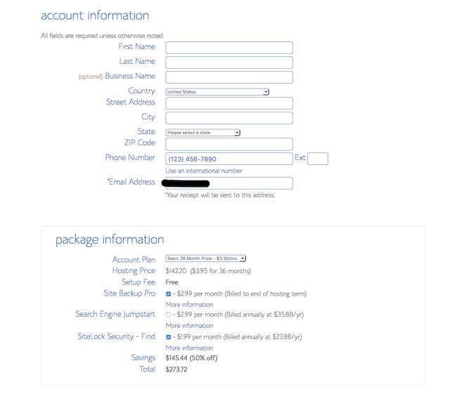 4 Acct Information screenshot