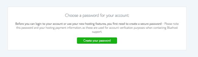 How to start a sports blog - 6 Password screenshot