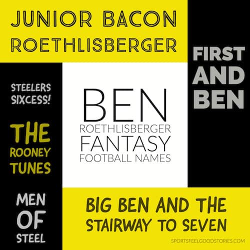 Ben Roethlisberger Fantasy Football names image