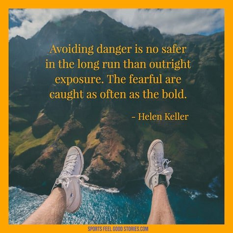 Helen Keller quote on danger