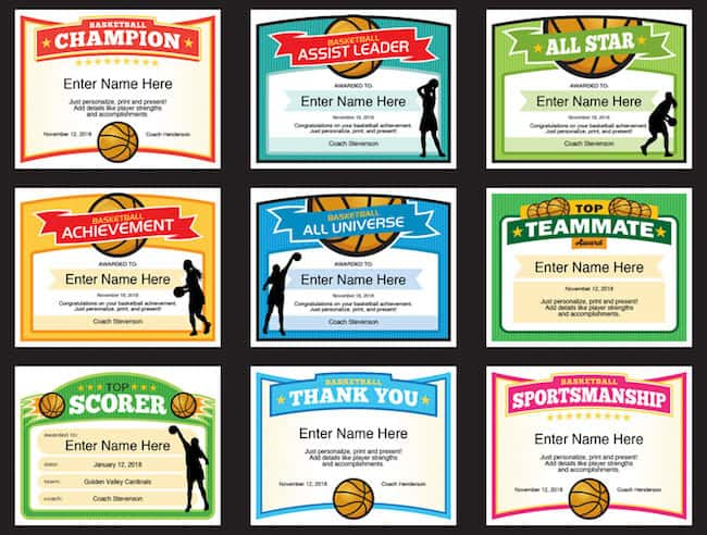 basketball awards grid one