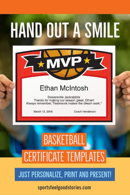 basketball certificate in use image