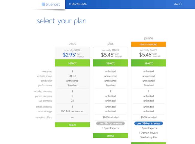 Select Hosting Plans image