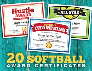 300 softball team award cover image