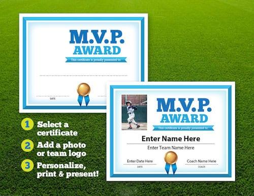 Baseball MVP award image