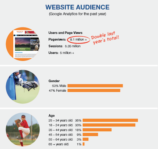 website audience image