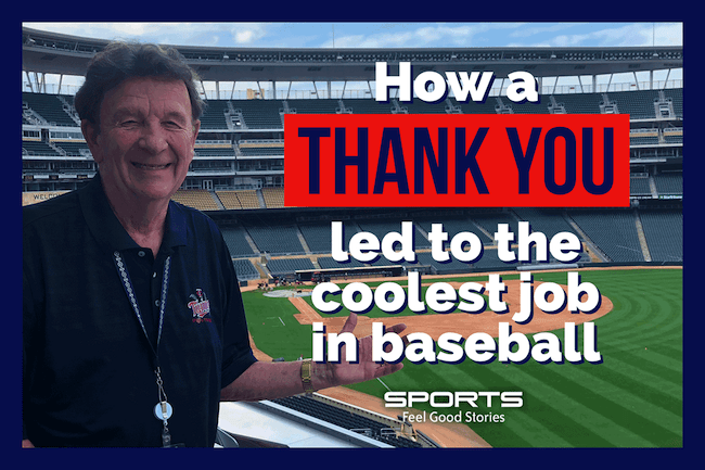 0c1e1e32316 How a Thank You Led to the Coolest Job in Baseball