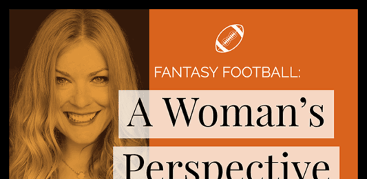 women and fantasy football image