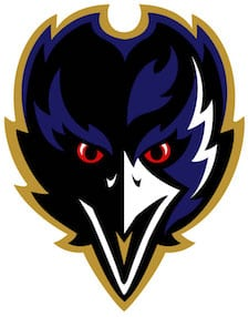the Ravens logo head on image