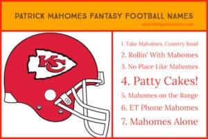 Patrick Mahomes Fantasy Football Team Names image