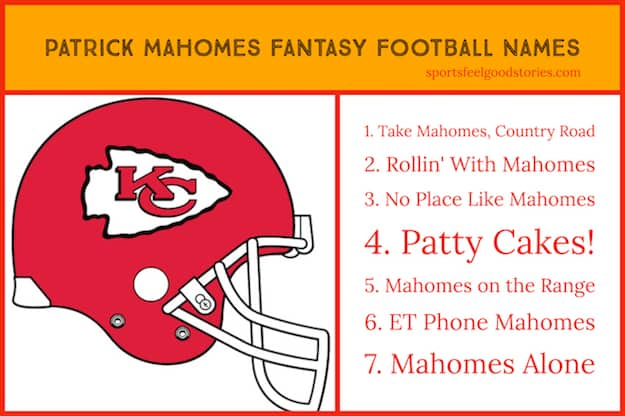 Patrick Mahomes Fantasy Football Team Names image